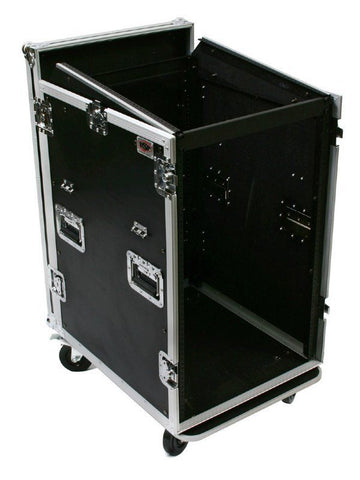 16U Roadcase on Wheels Slanting