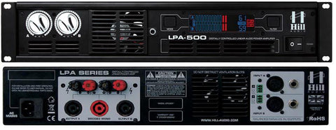 Hill Audio LPA500 Power Amplifier 2 x 200 Watts 4 Ohms