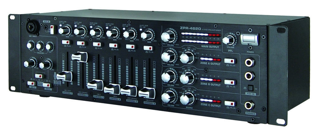 Hill Audio Zoning Mixer ZPR4620