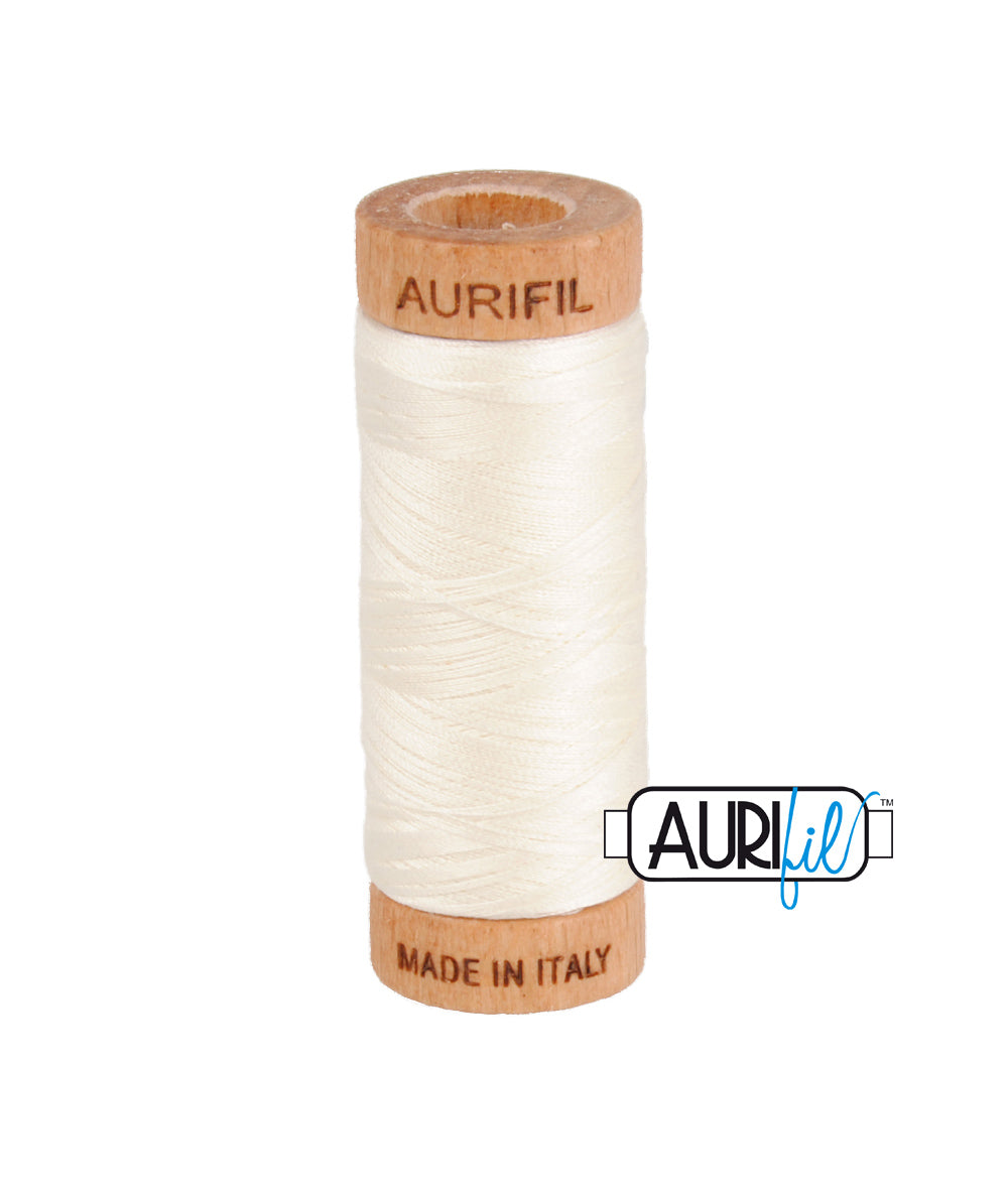 Aurifil 80wt Thread #2026 Chalk duckeggthreads.co.uk