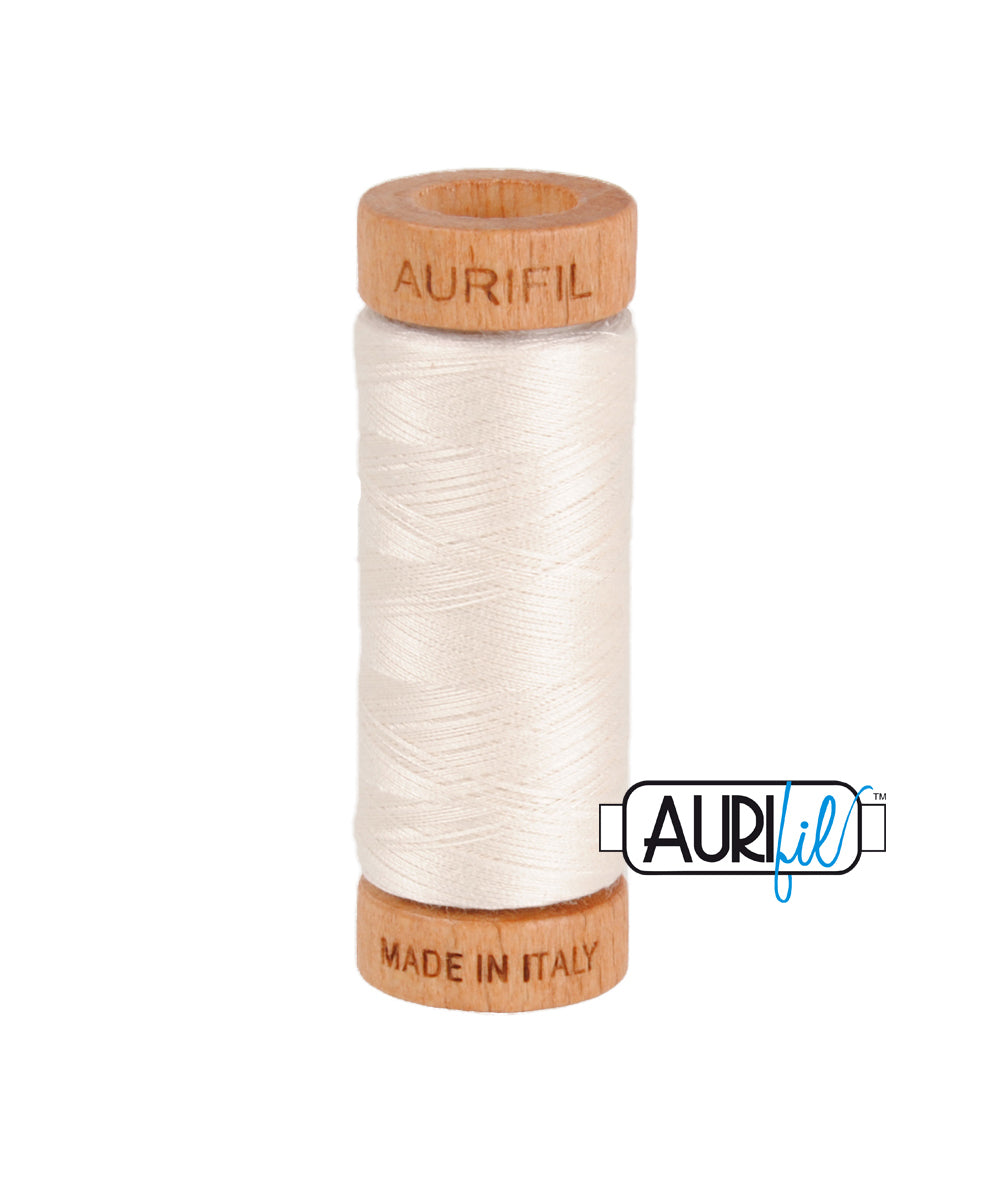 Aurifil 80wt Thread #2311 Muslin duckeggthreads.co.uk