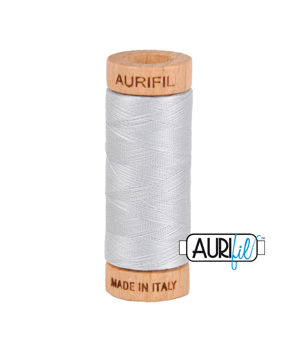 Aurifil 80wt Thread #2600 Dove duckeggthreads.co.uk