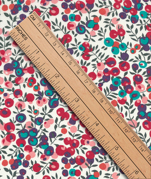 Liberty Tana Lawn Wiltshire Berry A Red duckeggthreads.co.uk