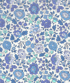 Liberty Tana Lawn D'Anjo D Blue duckeggthreads.co.uk
