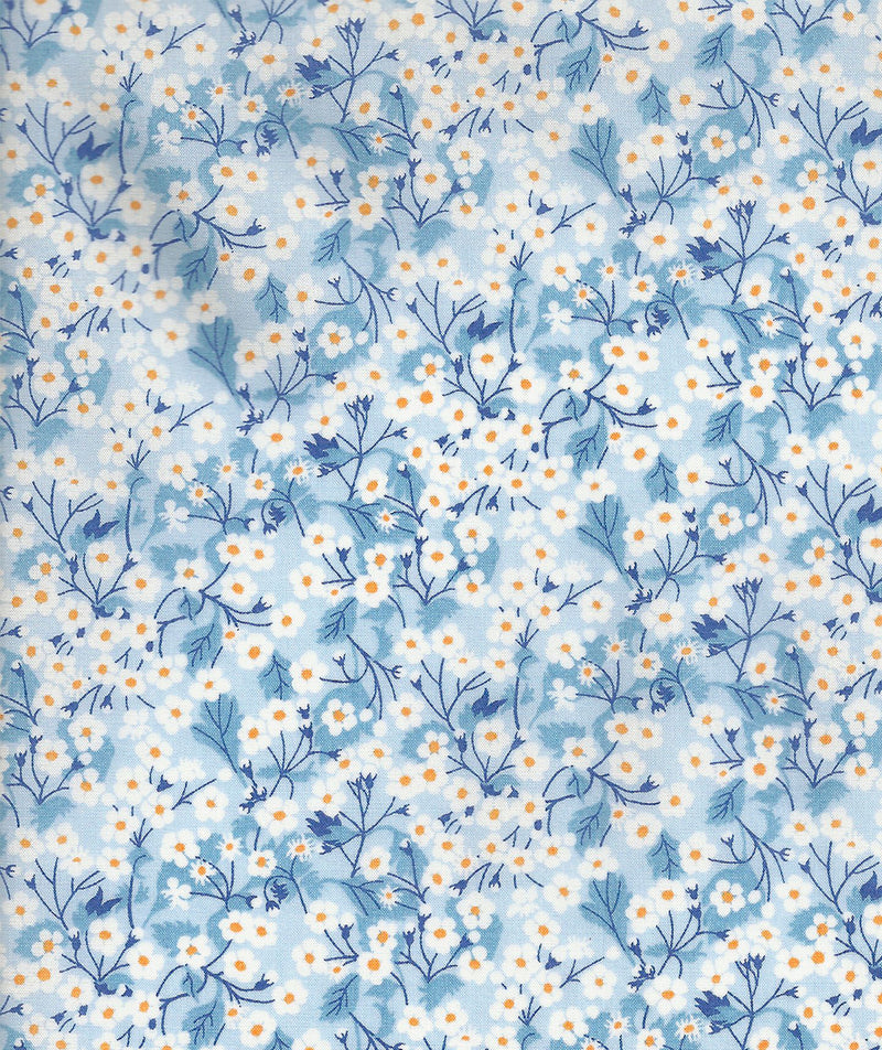 Liberty Tana Lawn Mitsi Valeria A Pale Blue duckeggthreads.co.uk