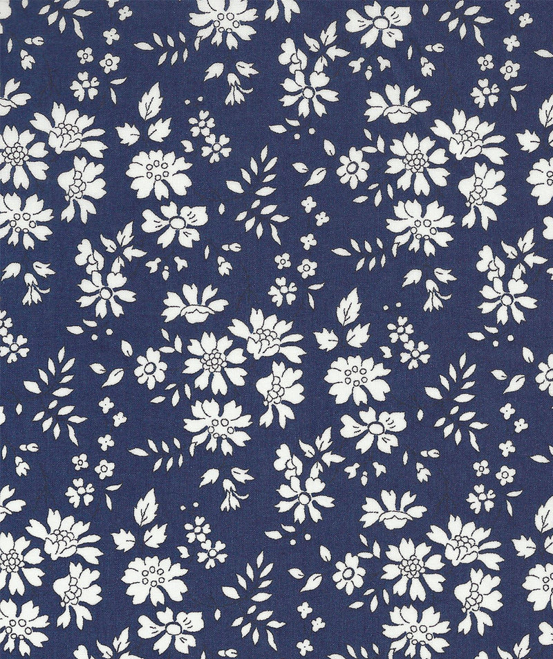 Liberty Tana Lawn Capel A Navy Blue duckeggthreads.co.uk
