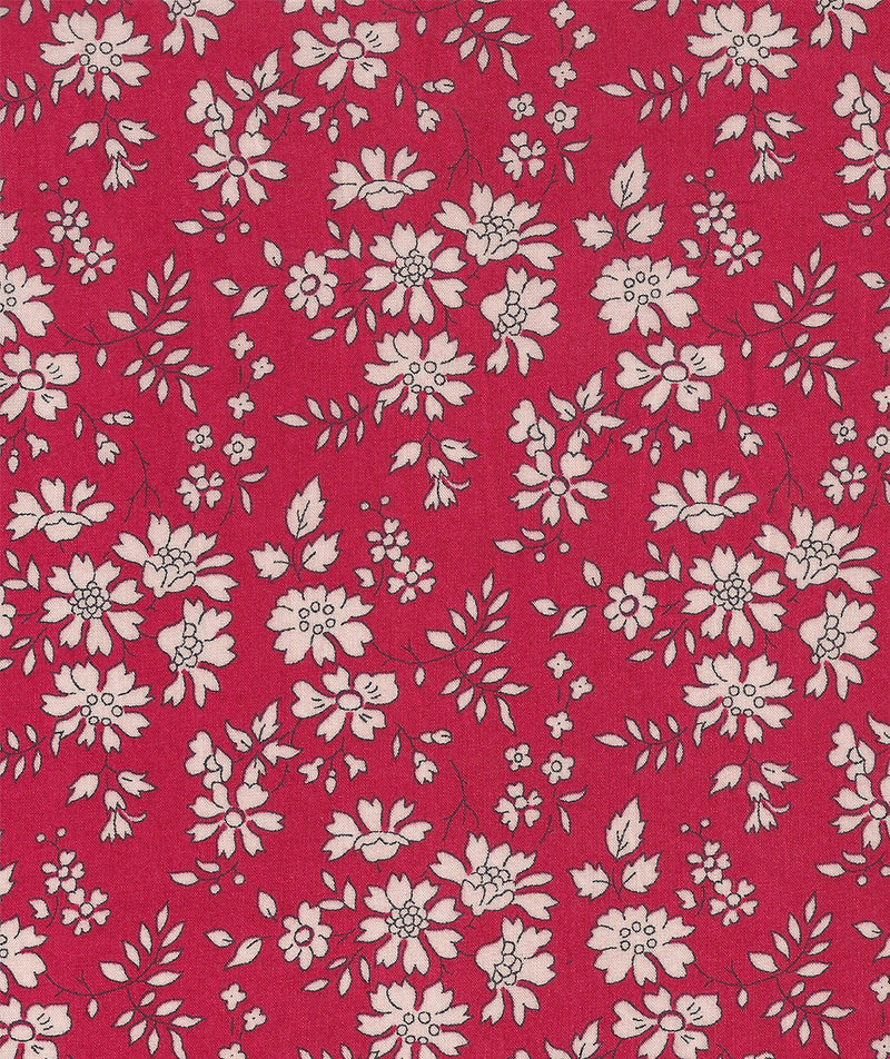 Liberty Tana Lawn Capel B Red duckeggthreads.co.uk