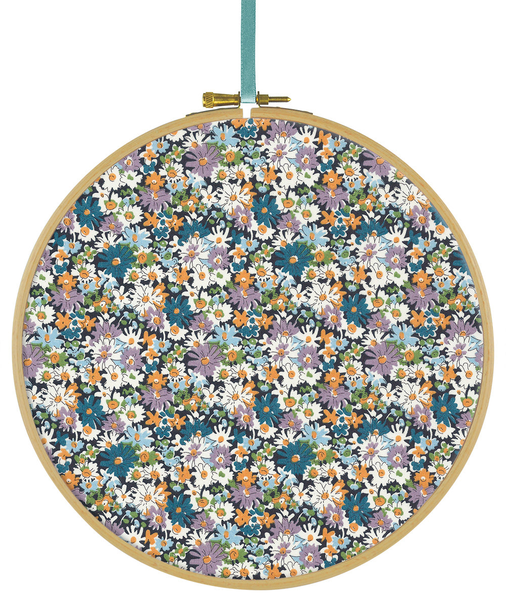 Liberty Tana Lawn Libby B Blue duckeggthreads.co.uk