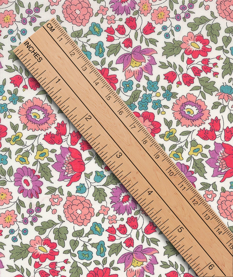 Liberty Tana Lawn D'Anjo B Purple duckeggthreads.co.uk