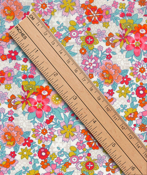 Liberty Tana Lawn Floral Waltz A Red duckeggthreads.co.uk