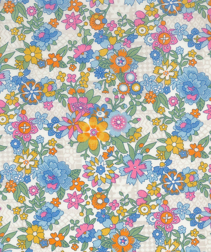 Liberty Tana Lawn Floral Waltz C Blue duckeggthreads.co.uk