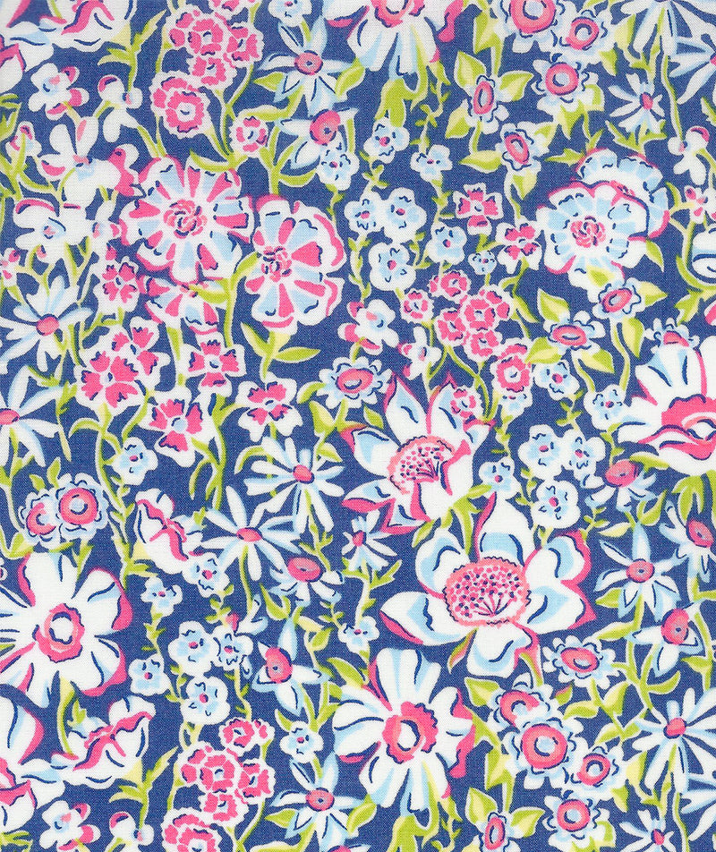 Liberty Tana Lawn White Garden B Pink duckeggthreads.co.uk