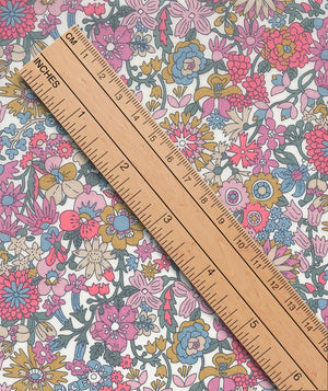Liberty Tana Lawn June Blossom A Dusky Pink duckeggthreads.co.uk