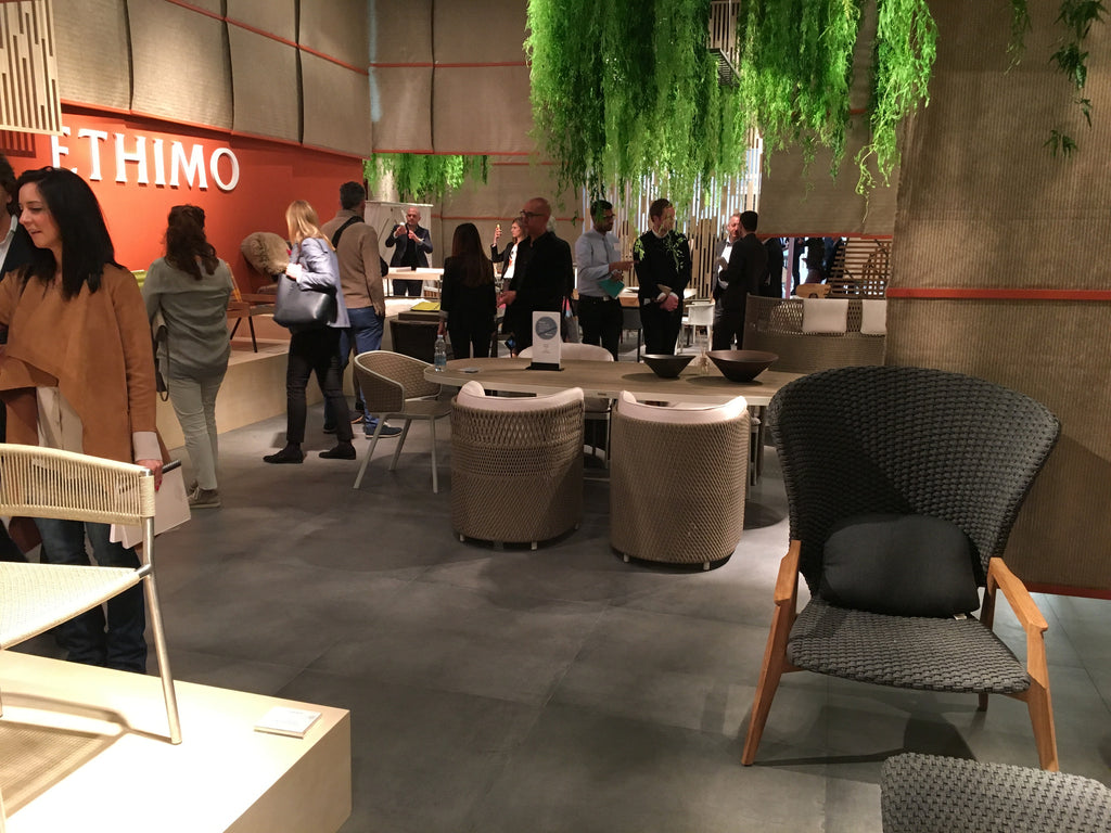 Ethimo's stand at Salone 2017 - designed by Patrick Norguet