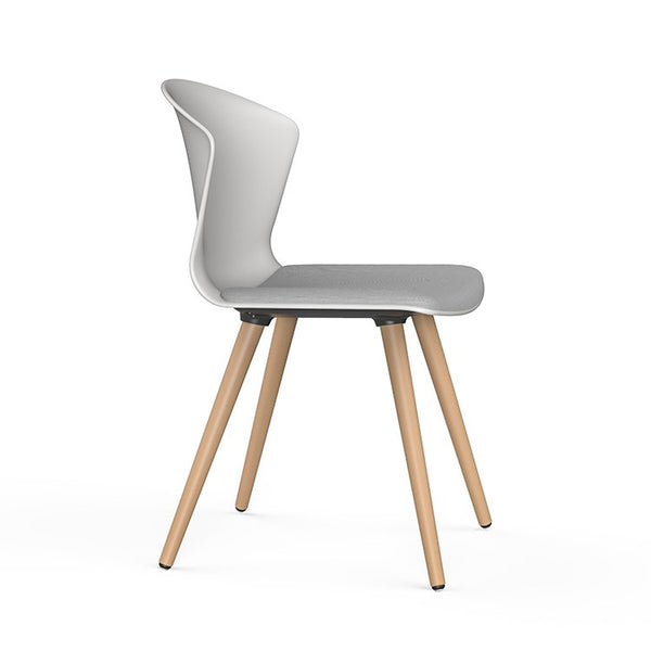 Whass 4 leg Timber Chair by Actiu
