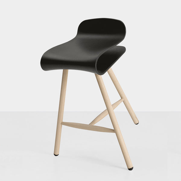 BCN Fixed Stool on Wooden Base by Kristalia - Innerspace - 3