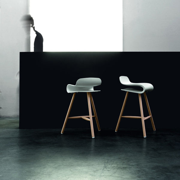 BCN Fixed Stool on Wooden Base by Kristalia - Innerspace - 4