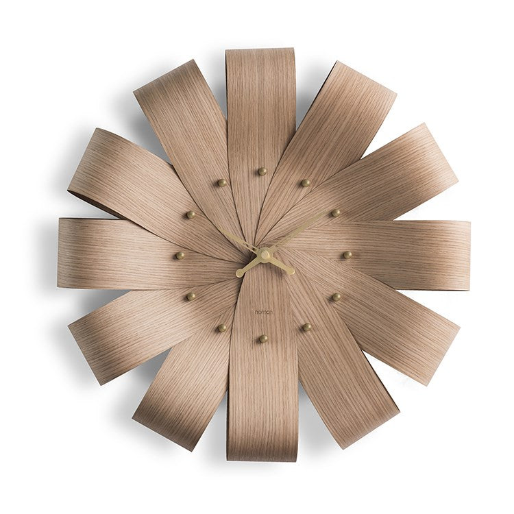 Ciclo Oak Wall Clock by Nomon