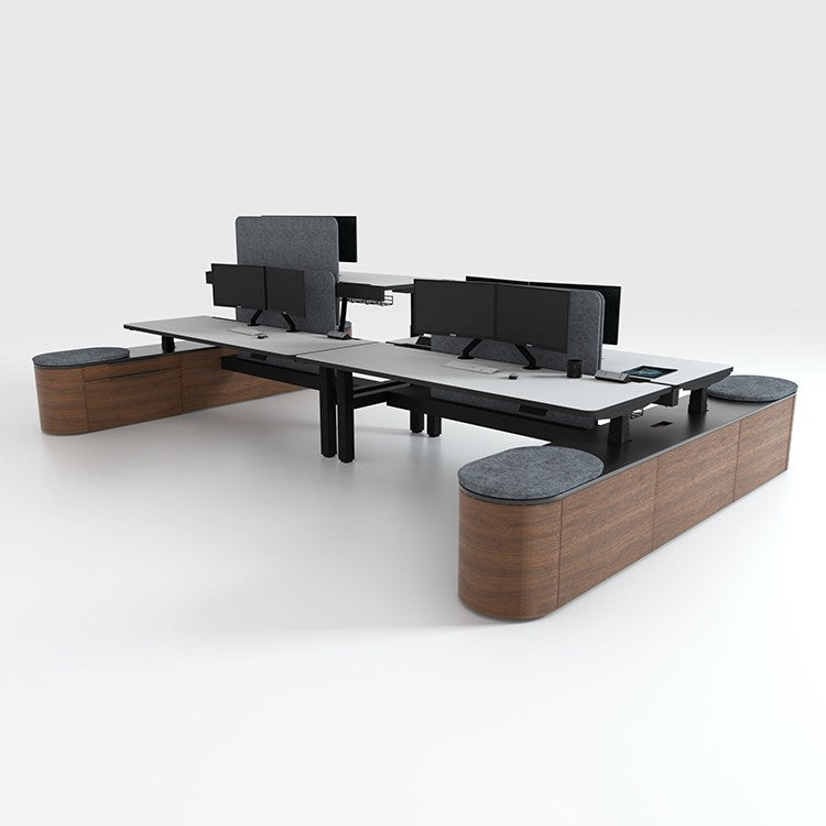 DuO Single Sit to Stand Workstation by 31 Degrees