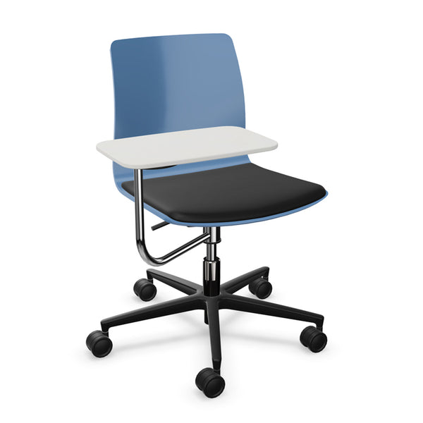 Fiore Gas Lift with Tablet Arm Chair by Dauphin