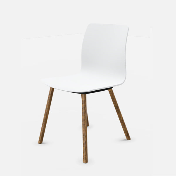 Fiore 4 Leg Timber Chair by Dauphin