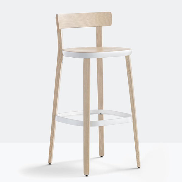 Folk Plywood Stool by Pedrali