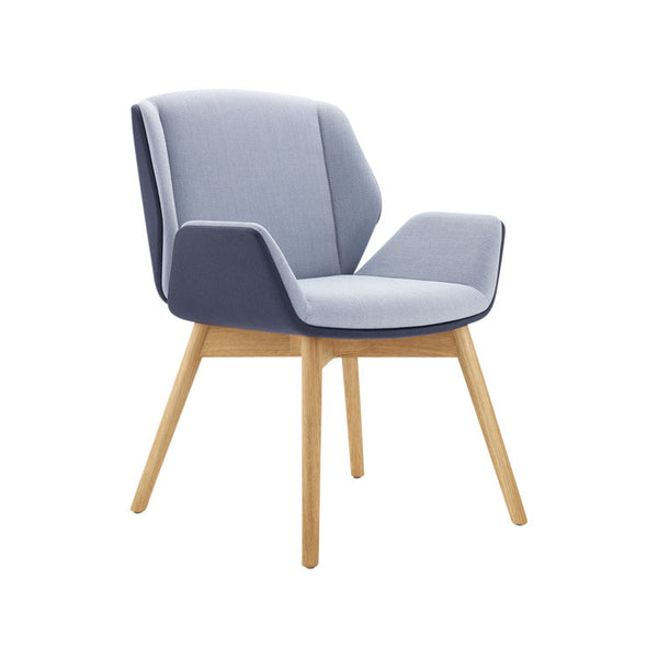 Kruze Chair Timber Legs by Boss Design