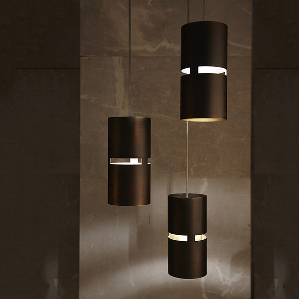 Luz Oculta Bronze Metal Pendant Light by Fambuena