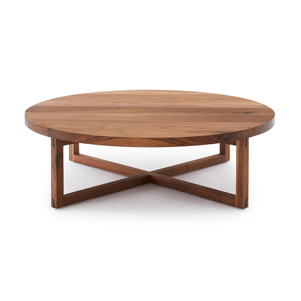 Cross Base Timber Coffee Table by Mark Tuckey