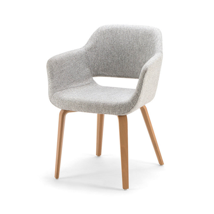 Magda 04 Timber leg Armchair by Torre - Innerspace - 2