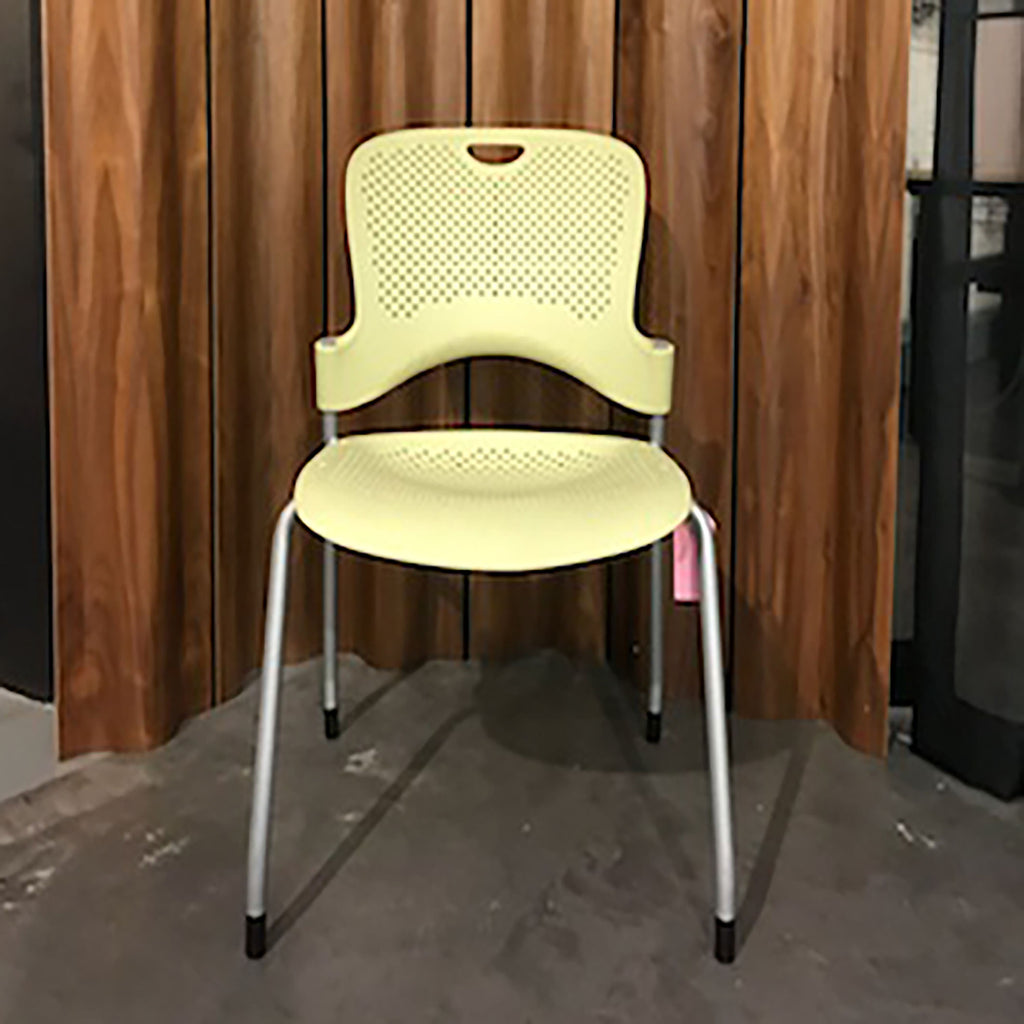 Caper Stacking Chair by Herman Miller - Lemon