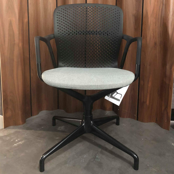 Keyn Pedestal Chair by Herman Miller - Black