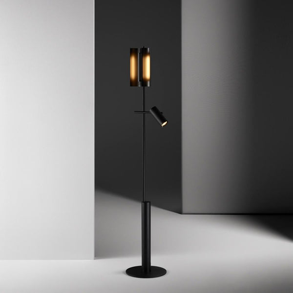 Typography - Cilon Rib and Spot Floor Lamp by Rakumba