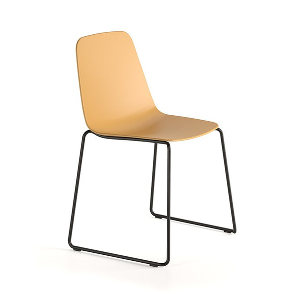 Maarten Plastic Sled Chair by Viccarbe