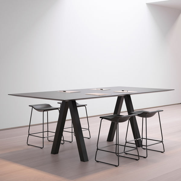 Trestle High Table by Viccarbe