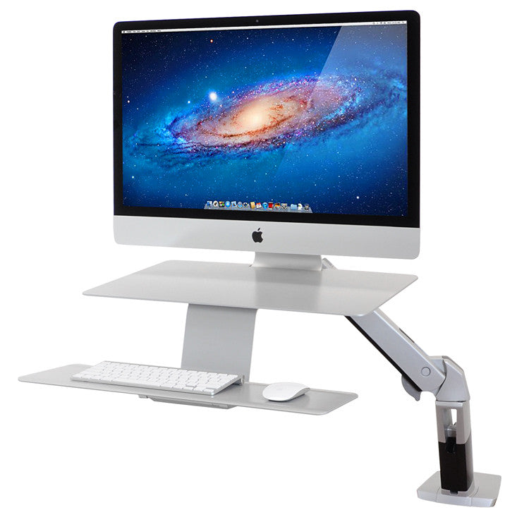 WorkFit-A Platinum for Apple with suspended keyboard by Ergotron - Innerspace - 1