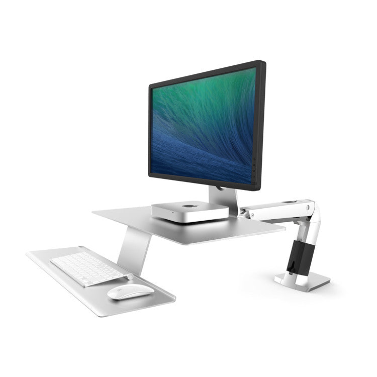 WorkFit-A Platinum VESA with suspended keyboard by Ergotron - Innerspace - 1