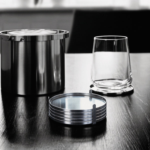 Set of 6 AJ Coasters by Stelton - Innerspace - 1