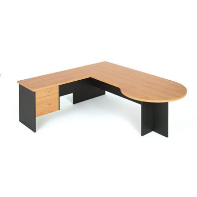 Linea D End Desk by Innerspace - Innerspace