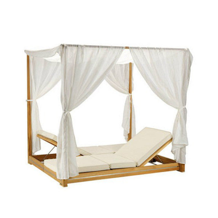 Essenza Double Canopy Sun Lounger by Ethimo - Innerspace - 3