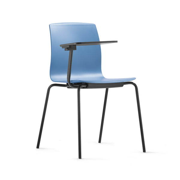 Fiore 4 Leg Metal Chair with tablet arm by Dauphin