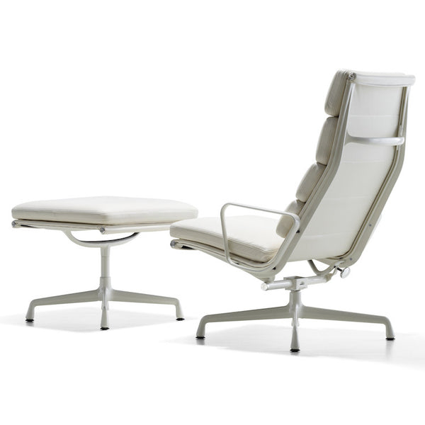 Eames Aluminium Group Soft Pad Lounge and Ottoman by Herman Miller - Innerspace - 1
