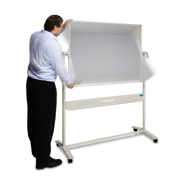 Pivot frame mobile whiteboard by Innerspace - Innerspace - 1