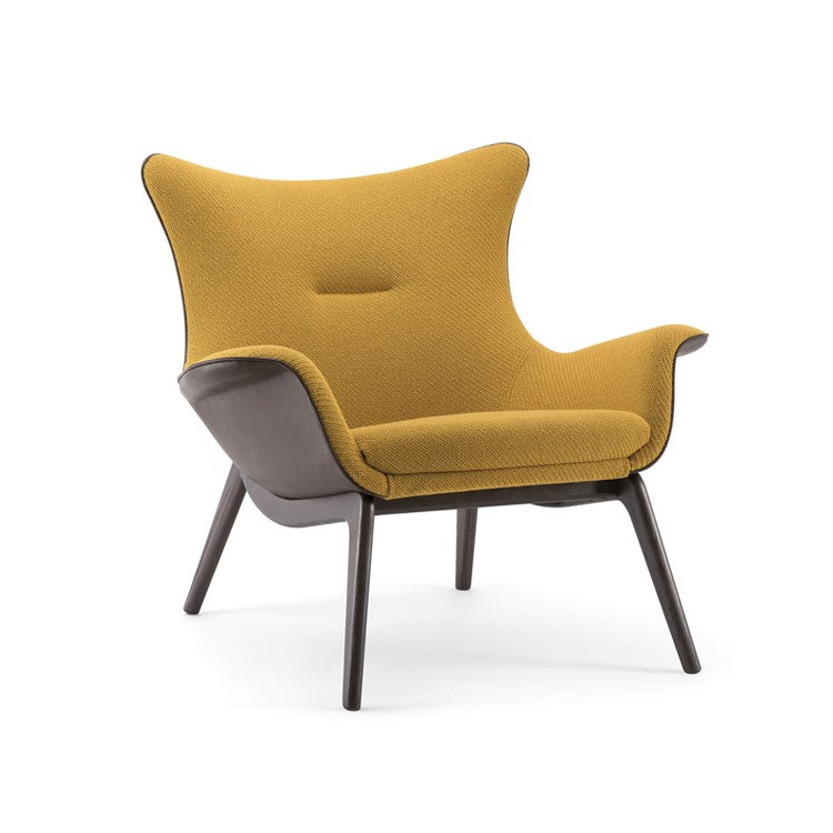 Nirvana Medium Back Armchair with timber base by Torre