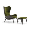 Nirvana High Back Armchair with timber base by Torre