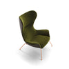 Nirvana High Back Armchair with metal base by Torre