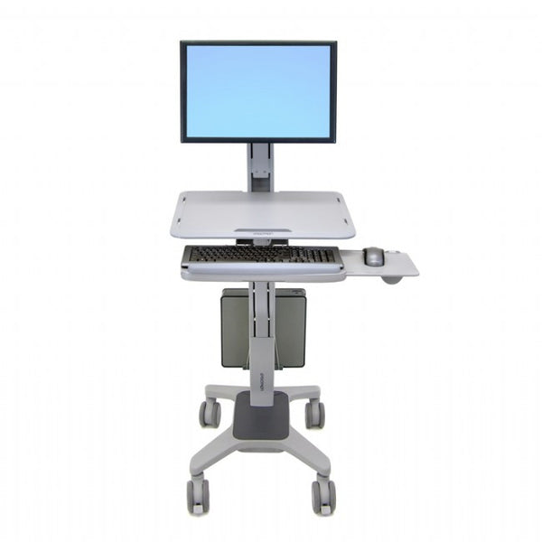 Workfit-C Sit to Stand - Single LCD with mobile cart base by Ergotron - Innerspace - 1