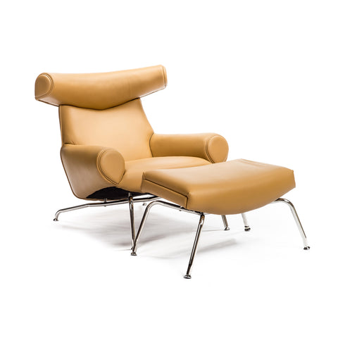 Bison Chair with Ottoman