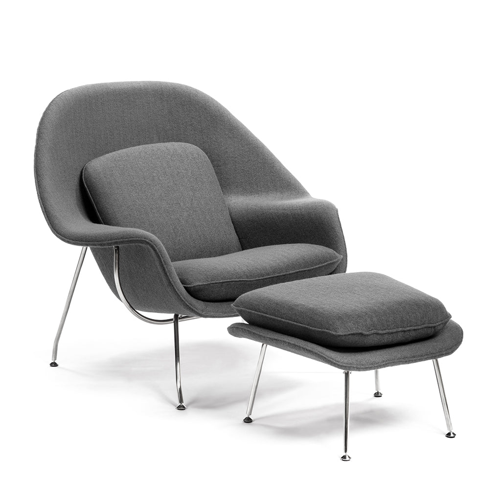 Cocoon Chair with Ottoman