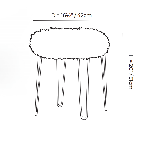 Hairpin Stool